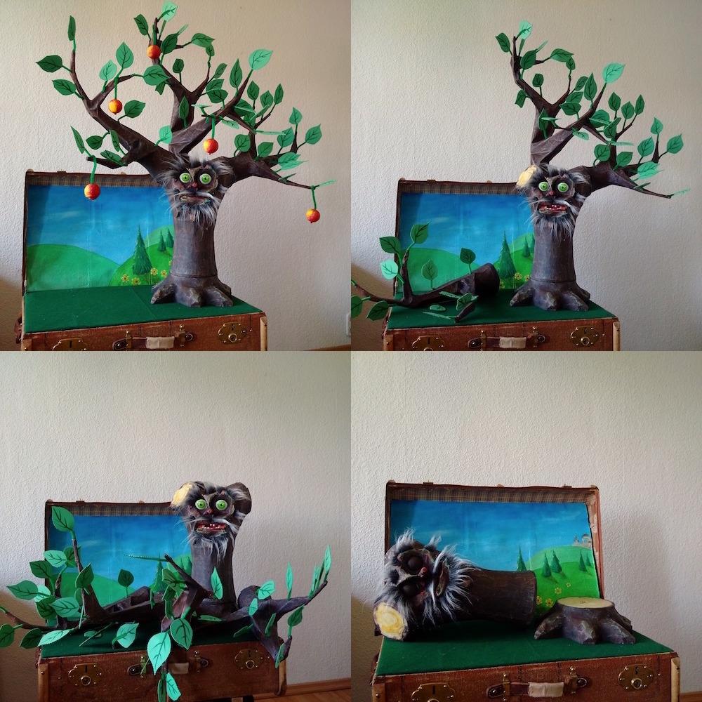 The Giving Tree, puppet, school, arbre, Baum