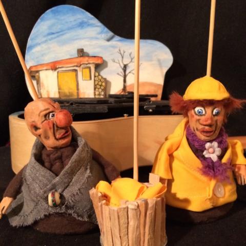 marionnettes ukulélé poisson d'or grimm