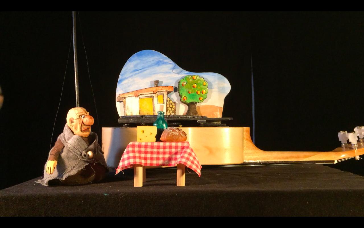 marionnettes ukulélé le pêcheur et sa femme grimm