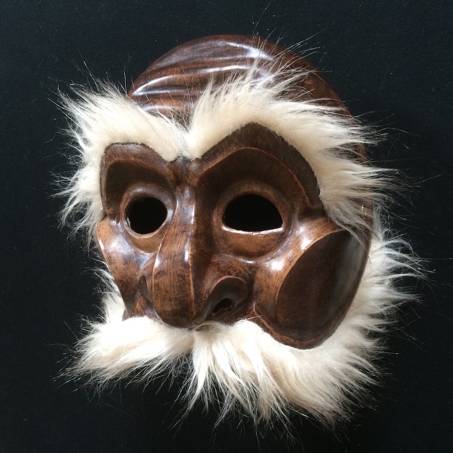 Brighella commedia dell arte leather mask