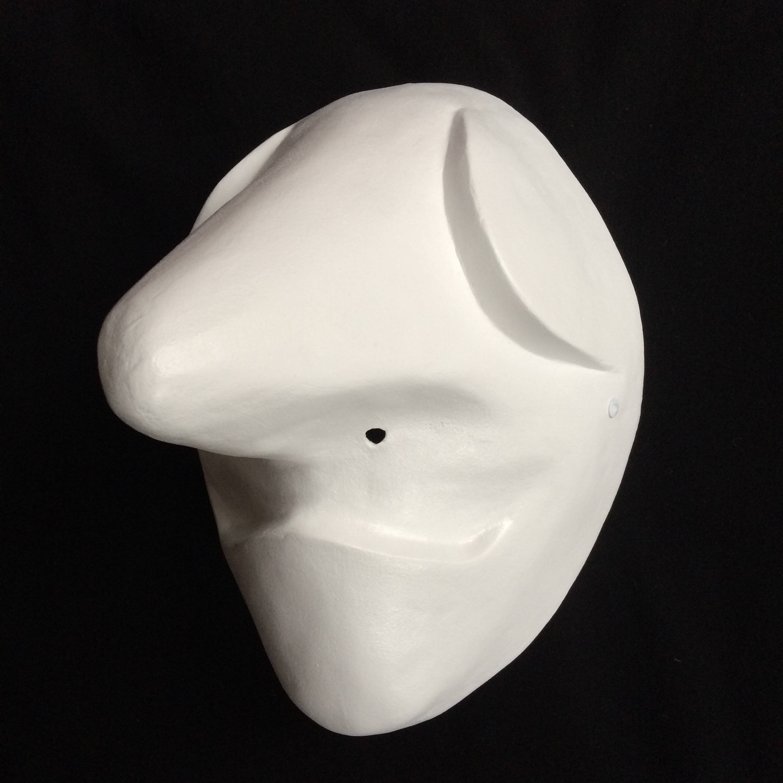 Masque larvaire, larval mask, Larvenmaske, Baslermaske,