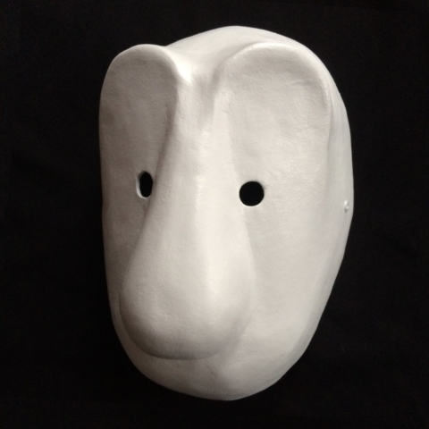 Masque larvaire, larval mask, Larvenmaske, Baslermaske