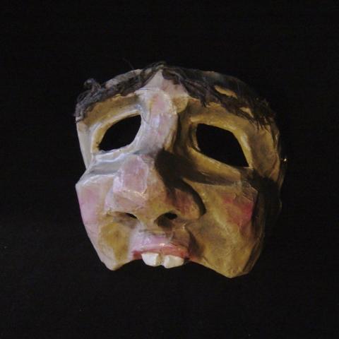 Demi masque papier mâché