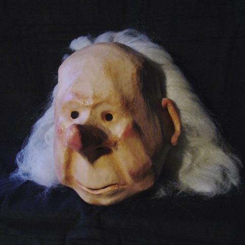 Masque théâtre vieillard