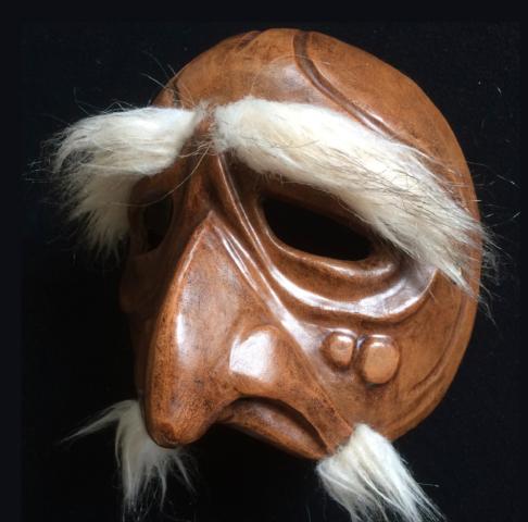 Pantalone Masque commedia dell'arte en cuir