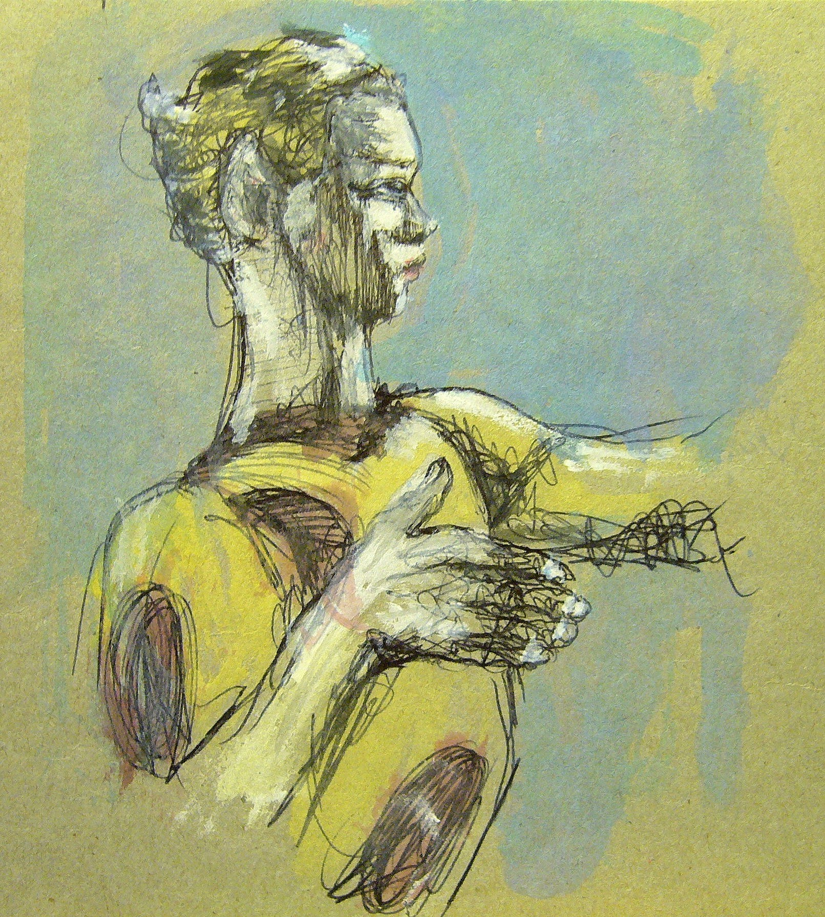 Peinture, acrylic, Nijinsky