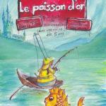 Peinture, affiche, spectacle, marionnettes, poisson d'or, le pêcheur et sa femme, Grimm
