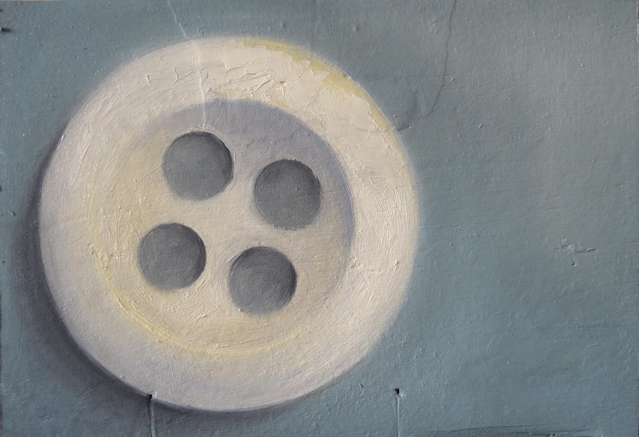 Peinture à l'huile, miniature, bouton