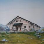 Peinture huile, paysage, nature, Louvie, haut val de bagnes, suisse