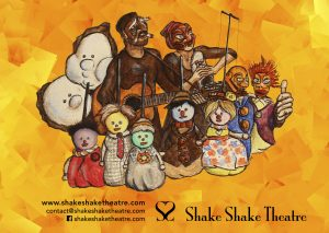 Peinture, affiche spectacle, Shake Shake Theatre