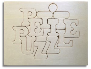 Petit Puzzle Plaquette Hand-made wood